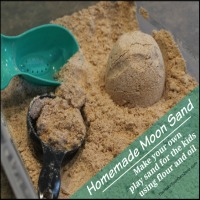 Homemade Play Sand {Moon Sand}