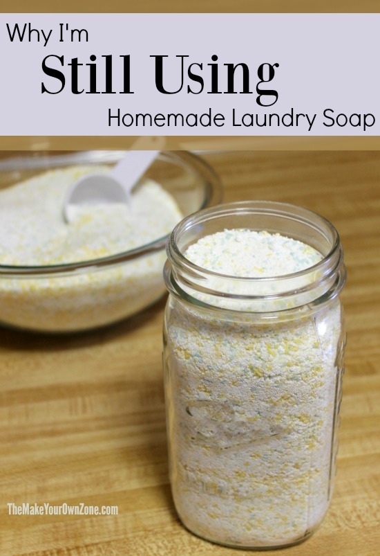 Why I'm Still Using Homemade Laundry Soap - not everyone sticks with it but here are a few reasons why it's been working at my house