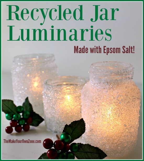 Put your recycled jars to good use with this quick and easy (and cheap!) homemade luminaries.