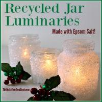 Recycled Jar Luminaries