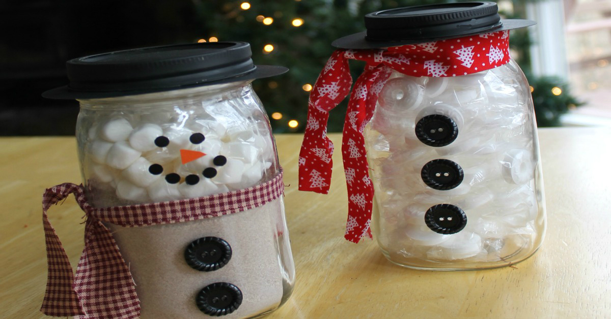 Holiday Snowman Jars The Make Your Own Zone