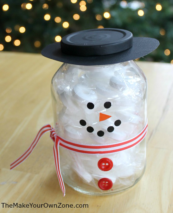 Snowman Jar Craft Project