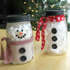 Holiday Snowman Jars