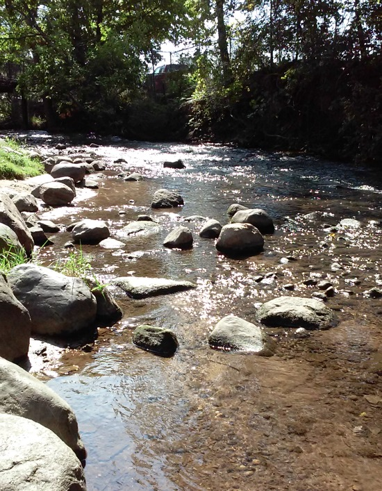 Look upstream and accept abundance that's flowing to you