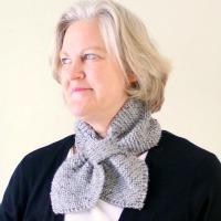 Garter Stitch Bow Tie Scarf