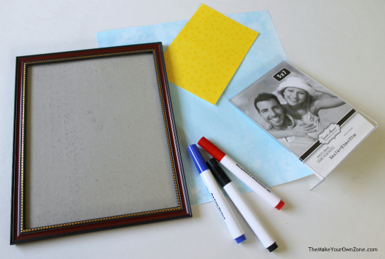 Make your own dry erase board with picture frames using this quick and simple DIY method