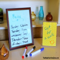 Quick DIY  Dry Erase Boards
