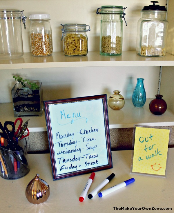 Easy Homemade Dry Erase Boards - easy to make with picture frames!