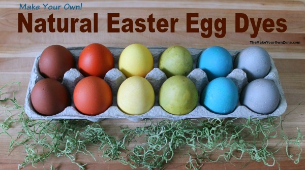 Homemade natural Easter egg dyes - easy to make with food from the kitchen. Includes printable pdf document with instructions too!