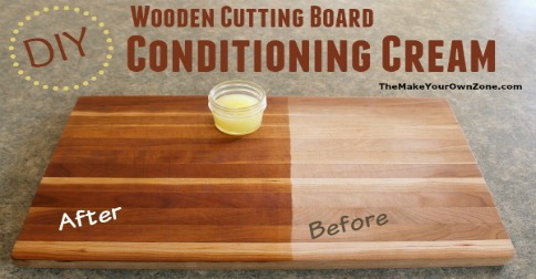 Diy wooden cutting board conditioning cream for Make your own chopping board