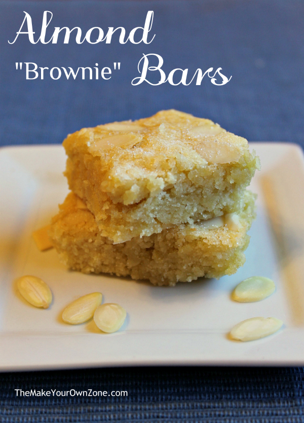"These Almond ""Brownie"" bars are moist, delicious, and quick and easy to make too! Almond extract gives the boost of flavor that makes this bars special."