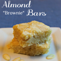 Recipe for almond bars that are moist and chewy like brownies