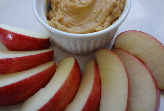 apple slices with dip