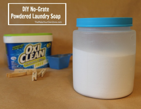 How to make a homemade powdered laundry soap with no grating of bar soap