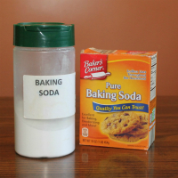 How to make a baking soda sink scrub