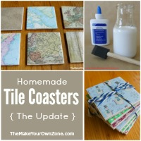 How to make homemade tile coasters