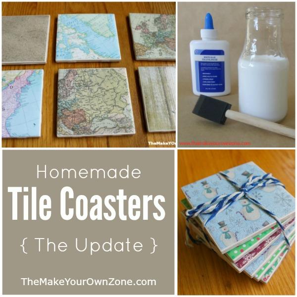 How to make homemade tile coasters