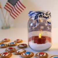Patriotic Jars (and Pretzel Treats!)