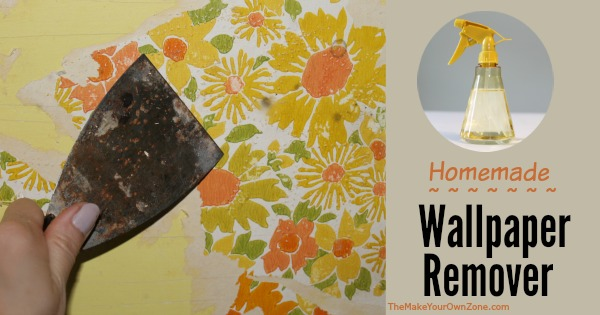 Make your own homemade wallpaper remover using vinegar and water