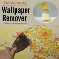 Vinegar + Water = Homemade Wallpaper Remover!