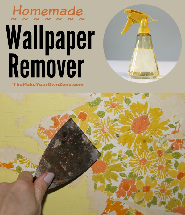 How to make a homemade wallpaper remover using vinegar and water