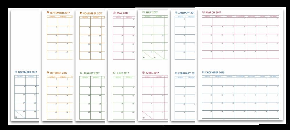 calendar collage 2