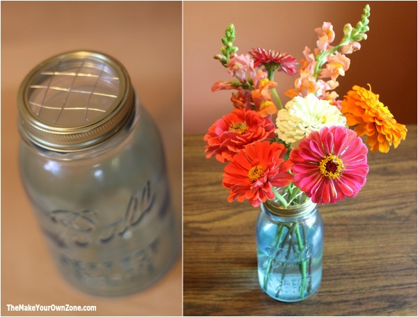 Make your own frog lids for mason jars to help your flower arrangements look their best!