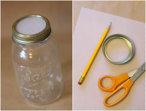 Make your own mason jar lid for sprouting