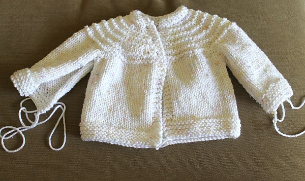 5 Hour Knit Baby Sweater Pattern