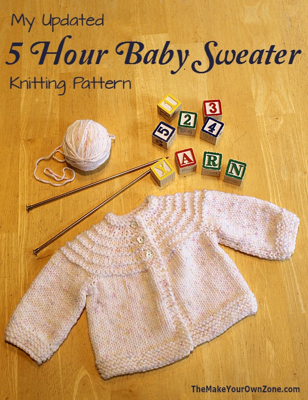 6dcdce6fe Knit a 5 Hour Baby Sweater with this free knitting pattern