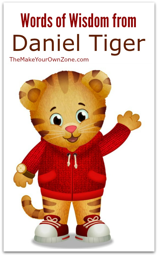 Words of wisdom from Daniel Tiger: If there's something you need, try to make it yourself