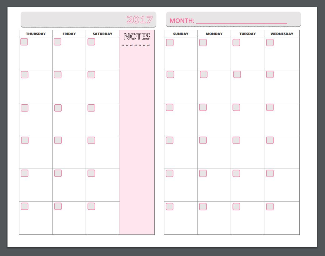 Free Printable Planner Pages - The Make Your Own Zone