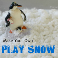 DIY Sensory Play Snow
