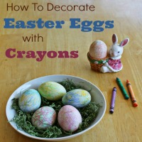 Decorate Your Easter Eggs With Crayons