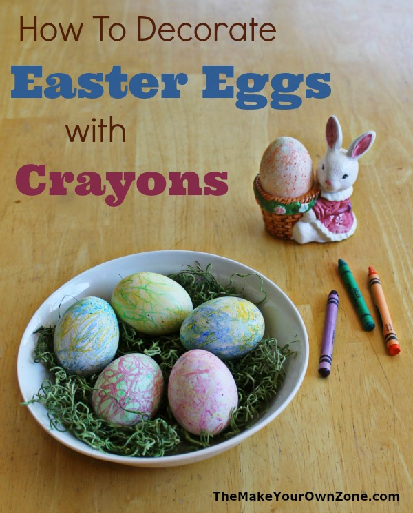 How to color Easter eggs with crayons - A fun way to decorate eggs with ordinary coloring crayons!