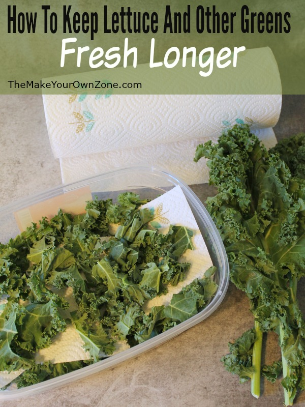 A simple tip for how to keep your lettuce, romaine, kale, or other greens fresh longer