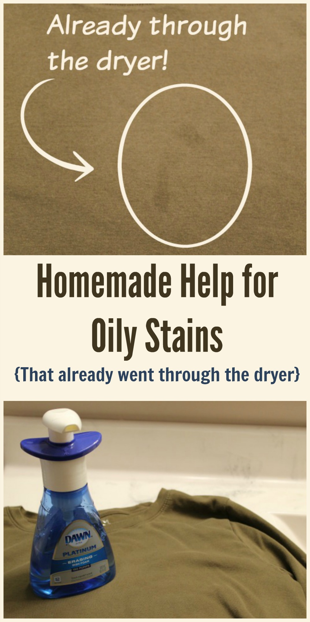 How to remove oily stains that have been through the washer and dryer