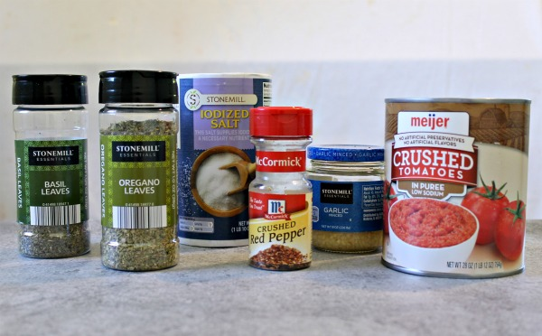 How to make a simple spaghetti sauce from a can of crushed tomatoes and spices in your pantry