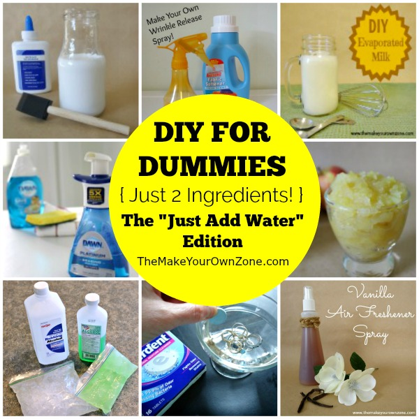 DIY for Dummies: 10 Easy 2 ingredient recipes you can make by just adding water!