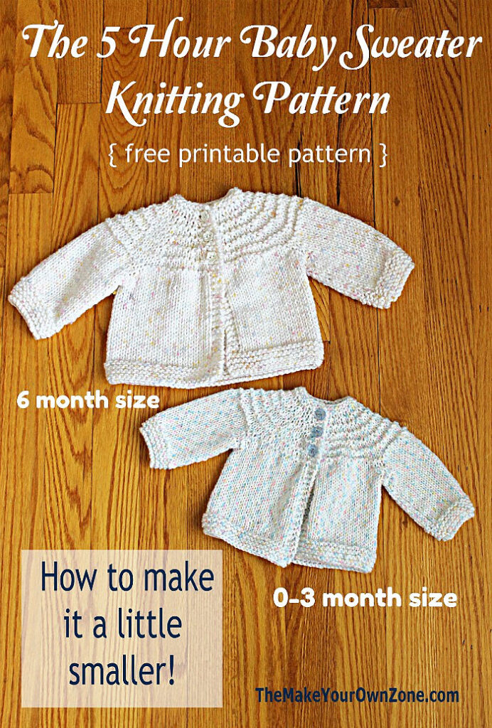 homemade baby sweaters knit by hand