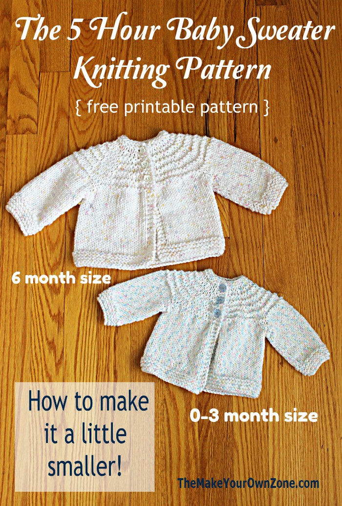 5 Hour Knit Baby Sweater - A Little Smaller! - The Make ...
