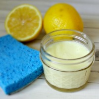 Homemade lemon soft scrub - It's easy to make your own!