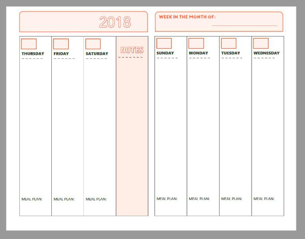 Free Weekly Calendar Planner Printable: Full And Half Size ...