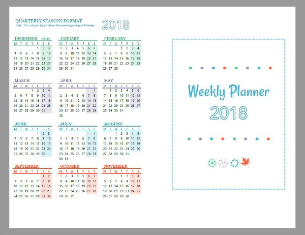Make your own planner - Free printable planner pages in a weekly format