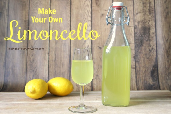 Homemade Limoncello Recipe - make your own limoncello with this simple method