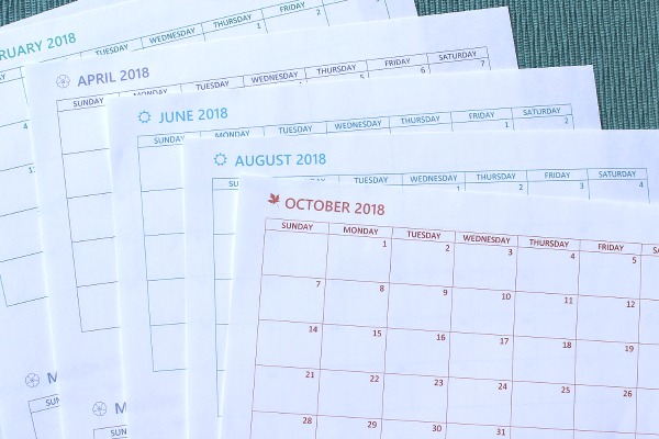 Monthly planner pages for Arc junior size notes - free printables!