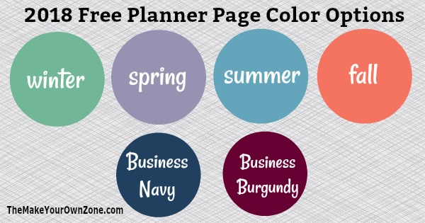 2018 Free Printable Planner Pages - Print Your Own Planner!