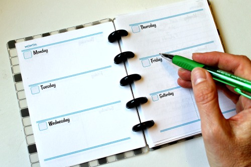 Free printable planner page for Arc Compact size and Arc Junior Size Notebooks