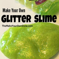Make Your Own Glitter Slime {For Kids}