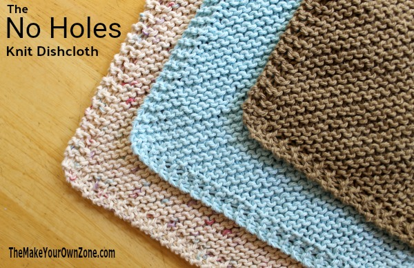 The Diagonal Knit Dishcloth but with No Holes! A fun new twist on a classic knitting pattern.